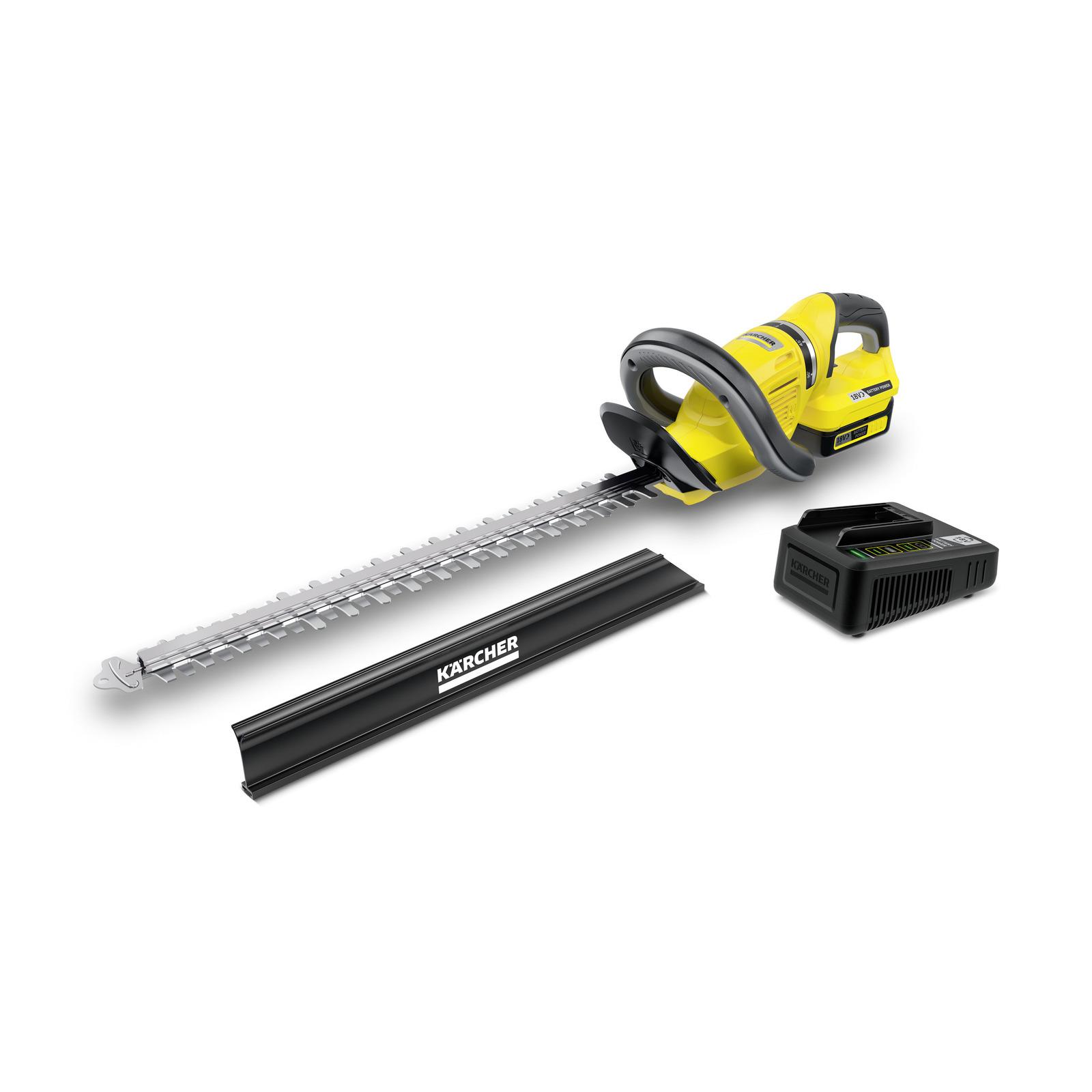 Akumulatorowe nożyce do żywopłotu HGE 18-50 firmy Karcher